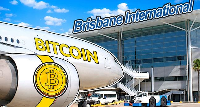 cryptocurrency at Australian Airport