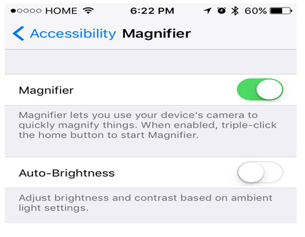 ios 10 magnifier feature