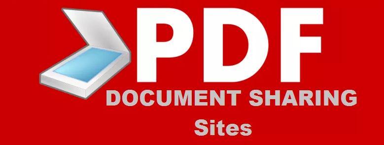 list of pdf document sharing sites